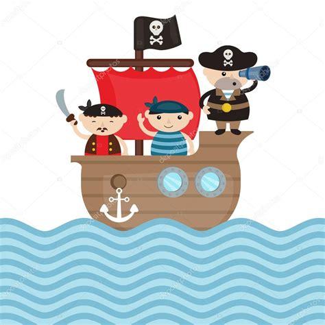 Barco Pirata Ilustracion ilustraci 243 n de barco pirata vector de stock 124204180