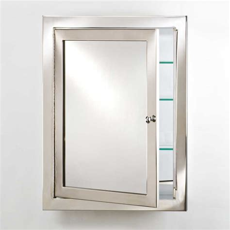 afina metro 20 quot mirrored medicine cabinet polished stainless met p s j keats