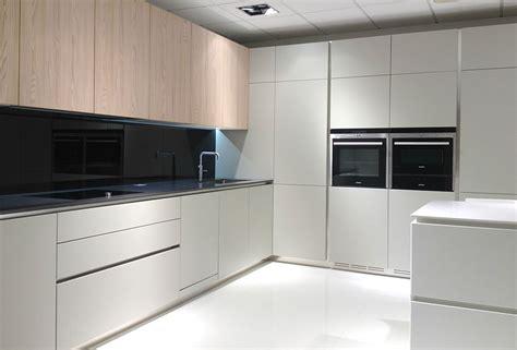 Ex Display Kitchen  Ecru Matt Lacquer & Elm Veneer