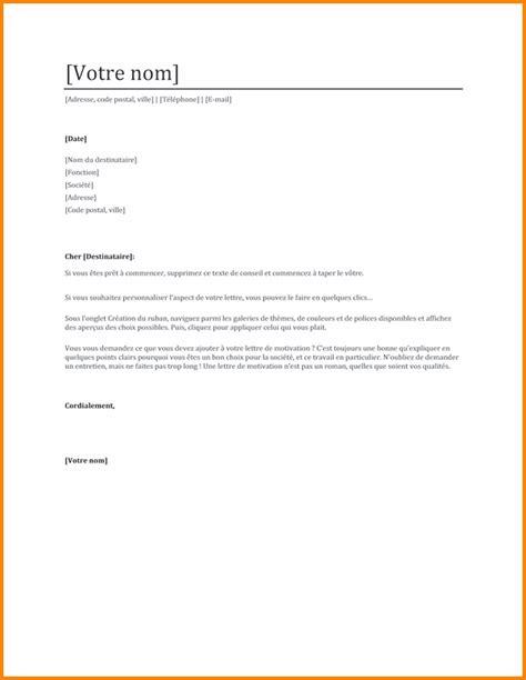 9 lettre de motivation secr 233 taire format lettre
