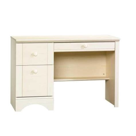 sauder harbor view collection 43 in antiqued white computer desk with slide out keyboard shelf