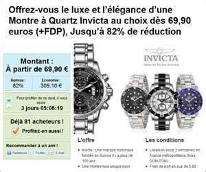 vente 233 e montres 224 quartz invicta 224 partir de 76 euros frais de port inclus expir 233
