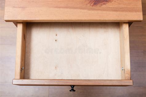 Top View Of Empty Open Drawer Stock Photo Pencil Drawer Slides Canada How To Fix A Dresser That Keeps Opening Australian Red Cedar Chest Of Drawers Lock Joint Plywood Wooden Without Under Counter Integrated Fridge With Plastic Runners Homebase Standard Sizes