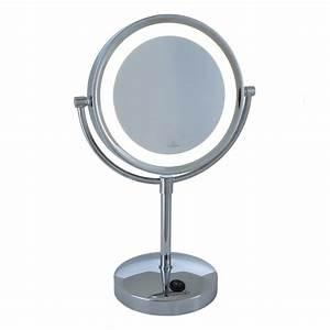 Kosmetikspiegel Mit Beleuchtung 7 Fach : led kosmetikspiegel batteriebetrieben mit 5 fach vergr erung wohnlicht ~ Markanthonyermac.com Haus und Dekorationen