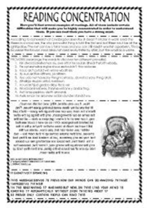 Reading Concentration Challenge  Esl Worksheet By Maigomay