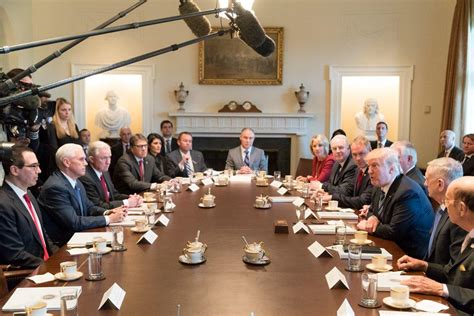 president s cabinet meeting lights up social media cbs news