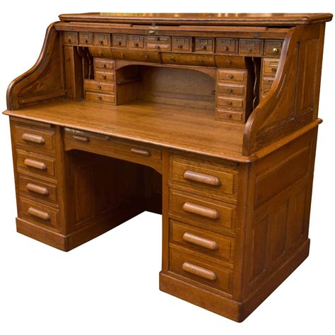 Exceptional Oversized Stype Oak Roll Top Desk For Sale At. City Furniture Desks. Desk Storage Box. Cordless Table Lamp. Small Mobile Desk. Ikea Tromso Loft Bed With Desk. Office Desk Height. Tile Table Top. Modern Reception Desk