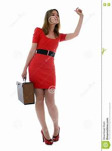 Business Woman Waving To A Co-worker Royalty Free Stock ...