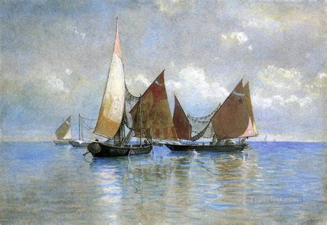 Boat Paintings By Famous Artists by Venetian Fishing Boats Seascape Boat William Stanley