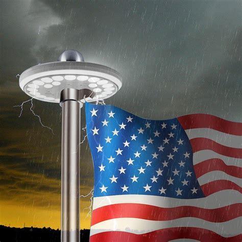 Solar Flag Pole Light, Ayy Ip65 Waterproof Outdoor Auto