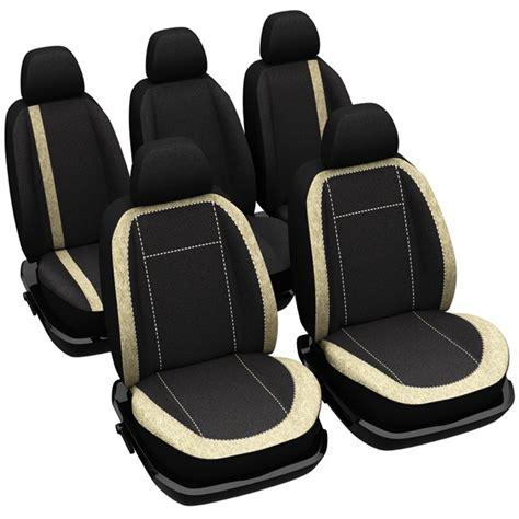 jeu complet de housses universelles voiture norauto madrid noires et beiges sp 233 cial monospace