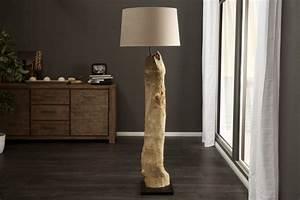 Stehlampe Aus Treibholz : riesige design stehlampe rousilique treibholz lampe beige handarbeit echter leinenschirm riess ~ Markanthonyermac.com Haus und Dekorationen