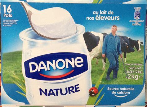 yaourt nature 16 pots danone 2 kg 2 x 8 x 125 g