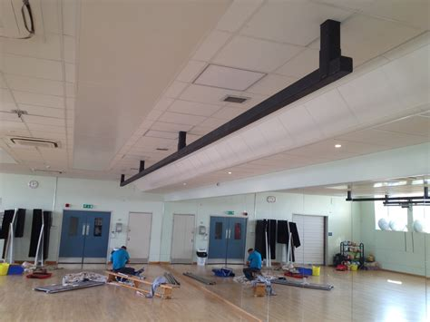 trx beams and boxing bag rails installed at glasgow chandler sports