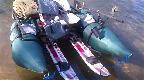 Inflatable Pontoon Boat Modifications by Crazy Inflatable Pontoon With 6hp Outboard Motor In