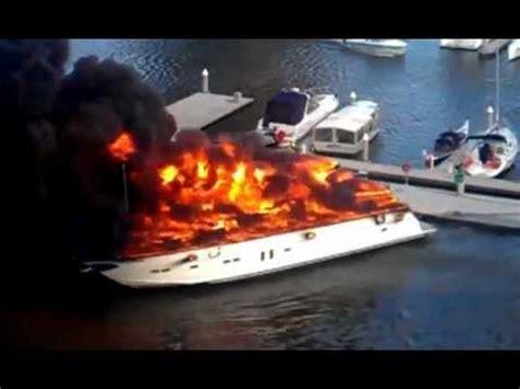 Barbie Boat Melbourne luxury boat on fire in melbourne youtube