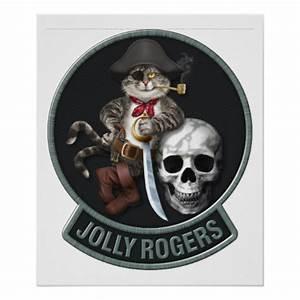 F-14 Tomcat Mascot Jolly Rogers Poster | Zazzle