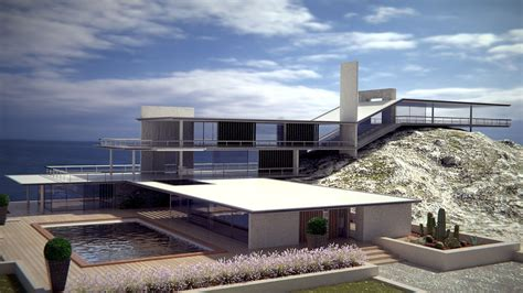 modern style original sea house 3d model blend cgtrader