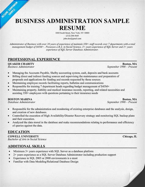 Business Administration Resume Samples  Sample Resumes. Example Administrative Assistant Resume. How Many Years Should Your Resume Go Back. Resume For A Truck Driver. Resume Help Dallas. Systems Engineering Resume. Lecturer Resume Format. Community Service Resume Template. Uat Tester Resume Sample