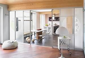 Schiebetür Wohnzimmer Küche : offene k che mit schiebet r abtrennen planungswelten ~ Markanthonyermac.com Haus und Dekorationen