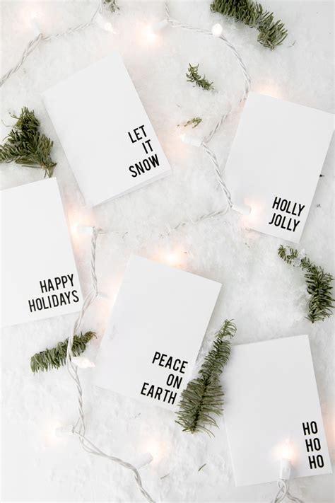 Free Printable Minimalist Christmas Cards  The Beautydojo