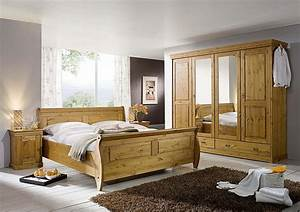 Schlafzimmer Set Massivholz : massivholz schlafzimmer komplett set kiefer massiv holz honig ~ Markanthonyermac.com Haus und Dekorationen