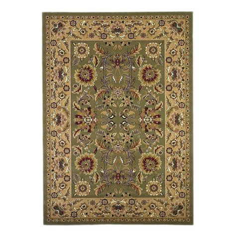 the home depot area rugs kas rugs classic kashan green taupe 9 ft 10 in x 13 ft