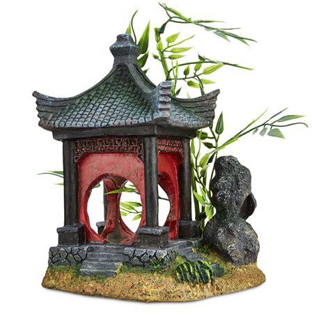 imagitarium asian gazebo with bamboo ornament petco