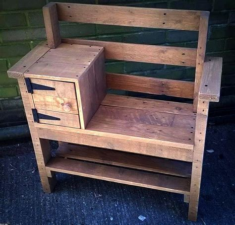 Pallet Bench With Storage And Shoe Rack  101 Pallet Ideas