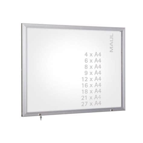 vitrine d affichage ext 233 rieur vitrine murale en verre pour 6 formats a4