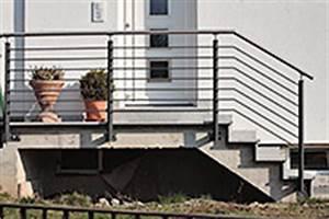 Treppenaufgang Außen Gestalten : metallbau fritz balkongel nder mit edelstahl handlauf 30 ~ Markanthonyermac.com Haus und Dekorationen