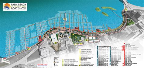 Palm Beach International Boat Show Map by Overview Maps At Palm Beach International Boat Show 2016