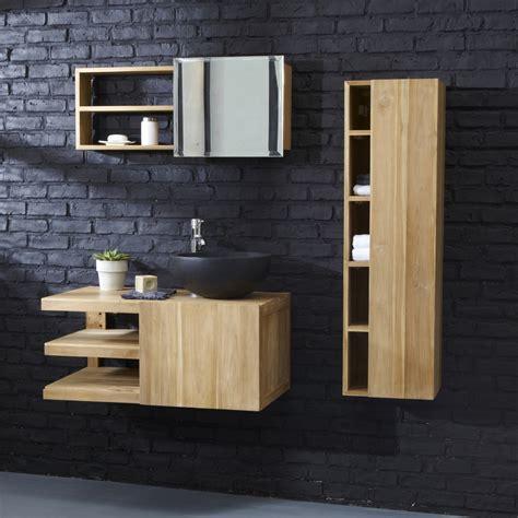 meuble pour salle de bain suspendu meubles en teck typo tikamoon