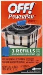 s c johnson wax 02884 3 pack powerpad l lantern area repellent refills