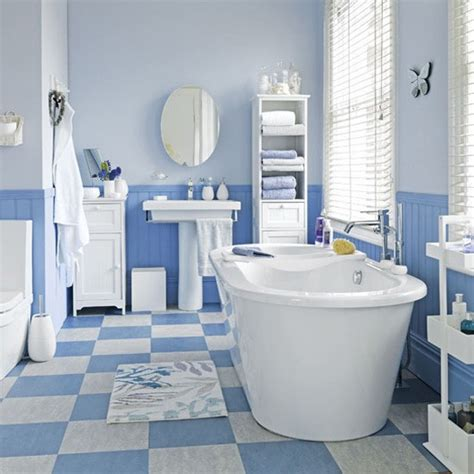 coastal style blue and white floor tiles bathroom tile ideas housetohome co uk