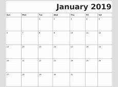 January 2019 Calendar Template 2018 calendar with holidays