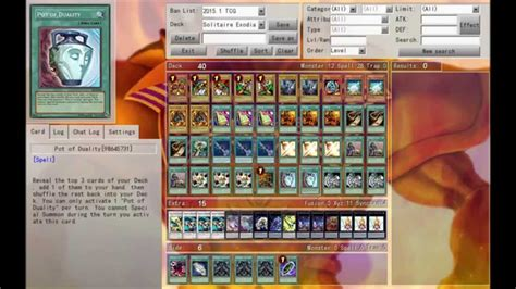 solitaire exodia deck profile tutorial january 2015 banlist
