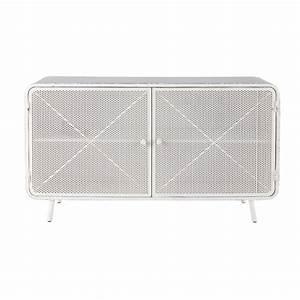 Metall Gartenbank Weiß : sideboard aus metall b 116 cm wei knokke maisons du monde ~ Markanthonyermac.com Haus und Dekorationen