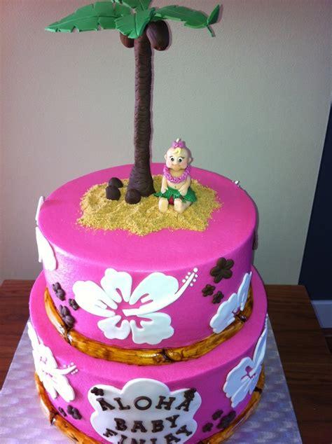 Hawaiian Themed Baby Shower Cake Cakecentralcom
