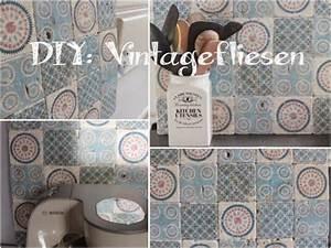 Vintage Fliesen Bad : selbst gemacht by patricia morgenthaler diy vintage fliesen selber machen diy pinterest ~ Markanthonyermac.com Haus und Dekorationen