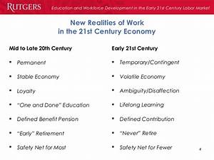 Education and Workforce Development in the Early 21st Century