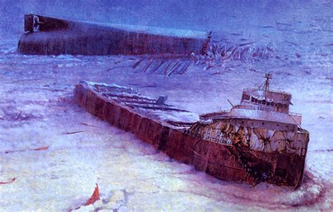 Sinking Of The Ss Edmund Fitzgerald by Edmund Fitzgerald Downriver Things