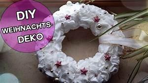 Weihnachtskranz Für Tür : diy wattepadkranz kranz aus wattepads basteln weihnachtsdeko basteln basteln pinterest ~ Markanthonyermac.com Haus und Dekorationen