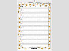Flora Organiser Calendar