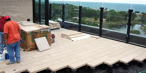 bison paver supports hardscape products green roof