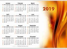 2019 Abstract Orange Calendar Design Free Vector by