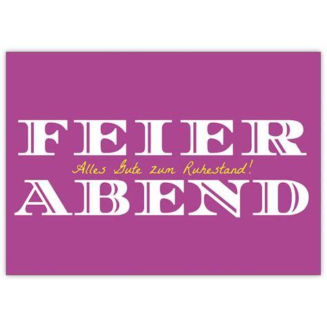 Elegante Renten Karte Feierabend! Alles Gute Zum