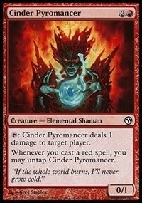 cinder pyromancer duels of the planeswalkers magic the gathering gaming store for