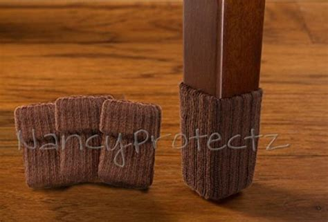 small chocolate brown with rubberized grips chair leg