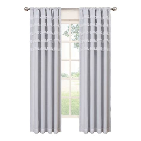 Eclipse Blackout Curtains White by Eclipse Ruffle Batiste Blackout White Polyester Rod Pocket